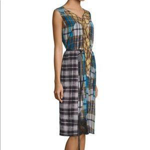 Marc Jacobs | sleeveless plaid shirt dress